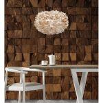 Φωτιστικό Οροφής - Δαπέδου με Πούπουλο EOS Medium Light Brown E27 Μπεζ Φ45x30cm 2066 - UMAGE