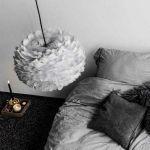 Φωτιστικό Οροφής - Δαπέδου με Πούπουλο EOS Medium Light Grey E27 Γκρι Φ45x30cm 2085 - UMAGE