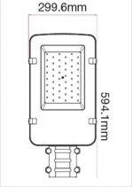 LED φωτιστικό δρόμου Samsung SMD High-Lumen 150W 6400Κ ψυχρό λευκό Κωδικός: 532