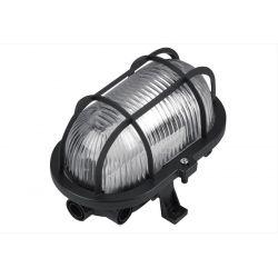 Φωτιστικό καραβοχελώνα πλαστική μαύρη με γυαλί στεγανή ip44 για λάμπες Led Ε27