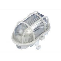 Φωτιστικό καραβοχελώνα πλαστική λευκή με γυαλί στεγανή ip44 για λάμπες Led  Ε27