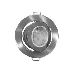 Φωτιστικό spot χωνευτό αλουμινίου στρογγυλό κινητό 45° σατινέ