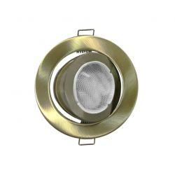 Φωτιστικό spot χωνευτό αλουμινίου στρογγυλό κινητό 45° αντικέ