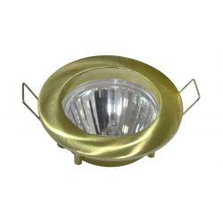 Φωτιστικό spot χωνευτό αλουμινίου στρογγυλό σταθερό χρυσό μάτ