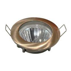 Φωτιστικό spot χωνευτό αλουμινίου στρογγυλό σταθερό χαλκός μάτ