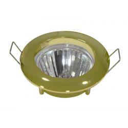 Φωτιστικό spot χωνευτό αλουμινίου στρογγυλό σταθερό χρυσό
