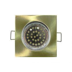 Φωτιστικό spot χωνευτό αλουμινίου τετράγωνο σταθερό μάτ χρυσό