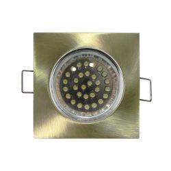 Φωτιστικό spot χωνευτό αλουμινίου τετράγωνο σταθερό αντικέ