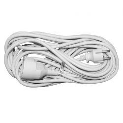 Προέκταση με φίς σούκο ασφαλείας & τριπολικό καλώδιο στρογγυλό 10 μετρα 3x1,5 mm2 λευκό