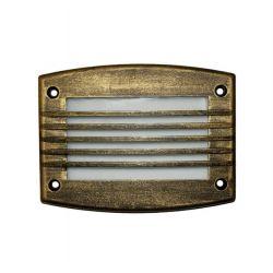 Φωτιστικό διαδρόμου ορθογώνιο αλουμινίου ρουστίκ με γρίλια 24 led 230v 1,4 watt στεγανό ip54 θερμό φώς