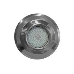 Spot πισίνας εξωτερικό στρογγυλό ατσάλι με 60 led 6,5watt 12V AC/DC στεγανό ip68 ψυχρό φώς