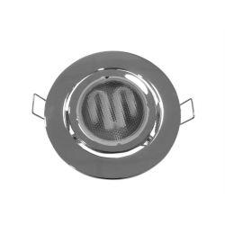 Φωτιστικό spot χωνευτό αλουμινίου στρογγυλό κινητό 45° χρώμιο