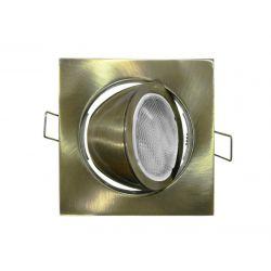 Φωτιστικό spot χωνευτό αλουμινίου τετράγωνο κινητό 45° αντικέ