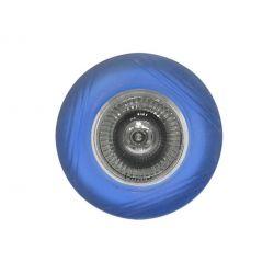 Φωτιστικό σπότ χωνευτό γυάλινο στρογγυλό σταθερό μπλέ για σπότ GU10 & MR16