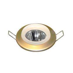 Φωτιστικό σπότ χωνευτό μεταλλικό σταθερό χρυσή πέρλα  με γυάλινο δαχτυλίδι για σπότ GU10-MR16