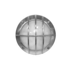 Φωτιστικό πλαφονιέρα αλουμινίου στρογγυλή με σατινέ πλέγμα στεγανή ip54 για λάμπες led G9