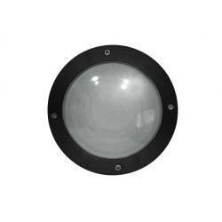 Φωτιστικό πλαφονιέρα αλουμινίου στρογγυλή μαύρη στεγανή ip54 για λάμπες led G9
