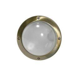 Φωτιστικό πλαφονιέρα αλουμινίου στρογγυλή αντικέ στεγανή ip54 για λάμπες led G9