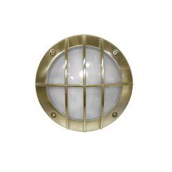 Φωτιστικό πλαφονιέρα αλουμινίου στρογγυλή με αντικέ πλέγμα στεγανή ip54 για λάμπες led G9
