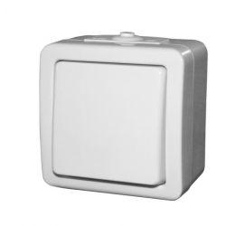 Διακόπτης εξωτερικός απλός στεγανός ip44 10A λευκός