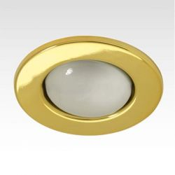 Φωτιστικό σπότ μπαλκονιού χωνευτό μεταλλικό με ντουί Ε14 R50 (μικρό κουτί) χρυσό μάτ