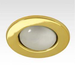 Φωτιστικό σπότ μπαλκονιού χωνευτό μεταλλικό με ντουί Ε27 R63 (μεγάλο κουτί) χρυσό μάτ