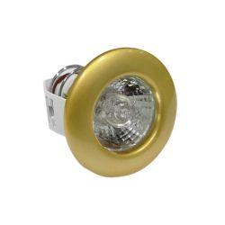 Φωτιστικό σπότ χωνευτό αλουμινίου στρογγυλό σταθερό με καθρέφτη χρυσή πέρλα για λάμπες G4 12V & 230V