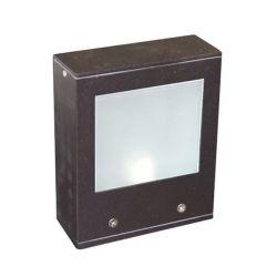 Φωτιστικό επίτοιχο αλουμινίου τετράγωνο σαγρέ σκουριά διπλής κατεύθυνσης για λάμπα g9 230v στεγανό ip54