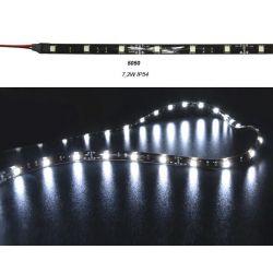 Led ταινία μαύρη εύκαμπτη αυτοκόλλητη 7.2w/m 12vdc 30led5050/m (μεγάλα led ) στεγανή ip54 ψυχρό λευκό φώς