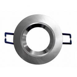 Φωτιστικό σπότ χωνευτό αλουμινίου βούρτσας στρογγυλό σταθερό με κοίλο δαχτυλίδι gu10 & mr16