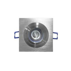 Φωτιστικό σπότ adeleq-lumen χωνευτό αλουμινίου βούτσας κινητο μονό για λάμπες gu10 & mr16 Ø 50mm