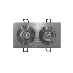 Φωτιστικό σπότ adeleq-lumen χωνευτό αλουμινίου βούτσας κινητο διπλό για λάμπες gu10 & mr16 Ø 50mm