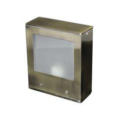 Φωτιστικό επίτοιχο αλουμινίου τετράγωνο αντικέ διπλής κατεύθυνσης για λάμπα g9 230v στεγανό ip54