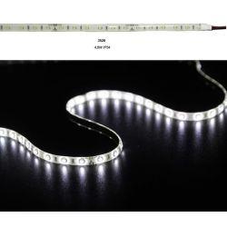 Led ταινία εύκαμπτη αυτοκόλλητη 4.8w/m 12vdc 60led3528/m στεγανή ip54 ψυχρό λευκό φώς