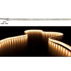 Led ταινία εύκαμπτη αυτοκόλλητη 4.8w/m 12vdc 60led3528/m στεγανή ip54 κίτρινη-πορτοκαλί φώς