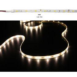 Led ταινία εύκαμπτη αυτοκόλλητη 7.2w/m 12vdc 30led5050/m  στεγανή ip54 θερμό λευκό φώς