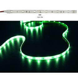 Led ταινία εύκαμπτη αυτοκόλλητη 7.2w/m 12vdc 30led5050/m  στεγανή ip54 πράσινο φώς