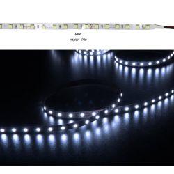 Led ταινία super bright εύκαμπτη αυτοκόλλητη 14.4w/m 24vdc 60led5630/m μή στεγανή ip20 μπλέ φώς