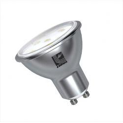 Λάμπα led gu10 με smd 2835 5watt 230v πλαστικό σώμα δέσμης 105° 360lumen ψυχρό λευκό φώς 6500Κ