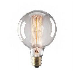 Λάμπα διακοσμητική τύπου edison 40watt E27 230V globe g95-1 θερμό λευκό 2200Κ 125lumen δέσμης 360° ντιμαριζόμενη