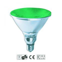 Λάμπα led ισχύος luxram E27 par38 10watt 230v πράσινο φώς 890umen ip65 30000 ώρες