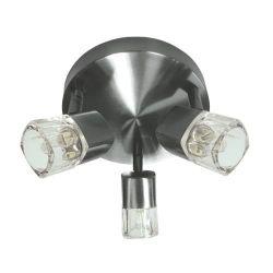 Φωτιστικό σπότ αλουμινίου & ατσάλι νίκελ μάτ τρίφωτο με γυαλί για λαμπτήρες με ντουί g9 230v 0901063NM