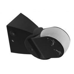 Ανιχνευτής κίνησης adeleq-lumen υπέρυθρων ακτινών επίτοιχος μαύρος 1200w 6amper 220° έως 12μ΄ip44 10-601