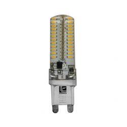 Λάμπα led adeleq-lumen σιλικόνης κυλινδρική με 96 smd3014 4watt 230v ψυχρό λευκό 6200Κ 300lumen 13-9040