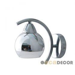 Φωτιστικό απλίκα μονόφωτη με γυαλί καθρέφτη στο επάνω μέρος με ντουί Ε27 TNK81444CR1W