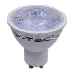 Λάμπα led spot v-tac gu10 7watt 220-240v με 1 led cob δέσμης 38° 550 lumen Ντιμαριζόμενη φυσικό λευκό 4500Κ 1667