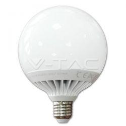 Λάμπα Led v-tac σφαιρική Φ120 13watt E27 μάτ 230v δέσμης 200° 1055 lumen ψυχρό λευκό 6000Κ