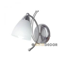 Φωτιστικό απλίκα νίκελ απο γυαλί αμμοβολής με λευκές γραμμές & ντουί Ε14 AD60202W