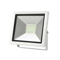 Προβολέας με led smd adeleq-lumen 30watt 230v λευκός αλουμινίου στεγανός ip65 ψυχρό λευκό 6400Κ 3150lumen ΚΩΔ : 3-403000