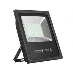Προβολέας με led smd adeleq-lumen 100watt 230v μαύρος αλουμινίου στεγανός ip65 θερμό λευκό 3100Κ 9400lumen ΚΩΔ : 3-40100100